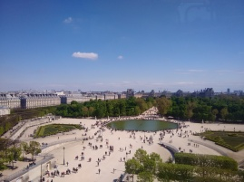 View from up on the Ferris Wheel of Paris