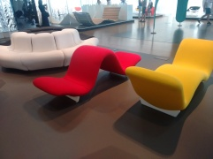 Versions of the tongue chair.