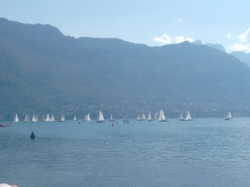 Heavy sailing going on at the Lake.