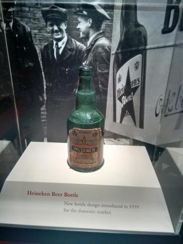 an age old Heineken bottle.