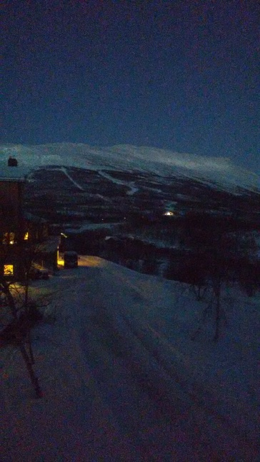 This is what 8 am looks like at Abisko.